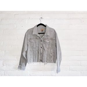 Raph Lauren || Cropped Denim Jacket Large